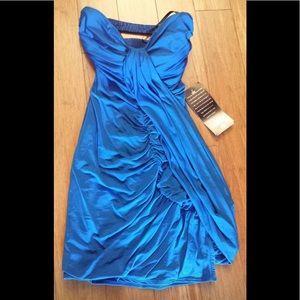 Beautiful NWT electric Blue Bebe dress XS